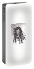 Portable Battery Charger featuring the drawing Colorful Beauty by Laurie L