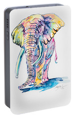 Colorful Elephant Portable Battery Charger by Kovacs Anna Brigitta