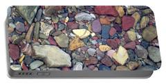 Colorful Lake Rocks Portable Battery Charger by Kerri Mortenson