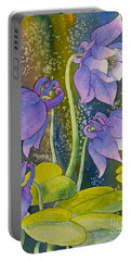 Columbine Portable Battery Charger by Teresa Ascone