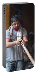 Portable Battery Charger featuring the photograph Cooking Breakfast Early Morning Lahore Pakistan by Imran Ahmed