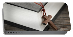 Cross And Bible Portable Battery Charger