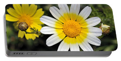 Crown Daisy Flower Portable Battery Charger by George Atsametakis