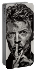 David Bowie - Pencil Abstract Portable Battery Charger