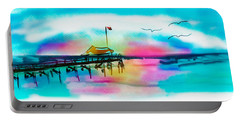 Portable Battery Charger featuring the digital art Daybreak At Pawleys Island by Frank Bright