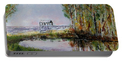 Fairhope Al. Duck Pond Portable Battery Charger by Melvin Turner