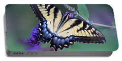 Eastern Tiger Swallowtail Butterfly On Butterfly Bush Portable Battery Charger