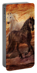 Ebony And Ivory Portable Battery Charger by Melinda Hughes-Berland