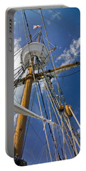 Portable Battery Charger featuring the photograph Elizabeth II Mast Rigging by Greg Reed