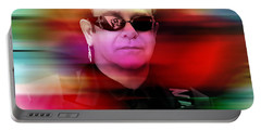 Elton John Portable Battery Charger by Marvin Blaine