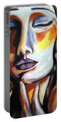 Portable Battery Charger featuring the painting Emotion by Helena Wierzbicki