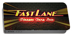 Fast Lane In Lights Portable Battery Charger by Kelly Awad