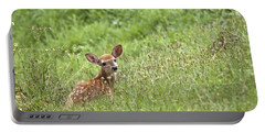 Fawn Portable Battery Charger by Jeannette Hunt
