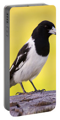 Fencepost Magpie Portable Battery Charger by Jorgo Photography - Wall Art Gallery