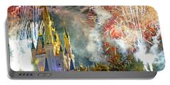 Fireworks Cinderellas Castle Walt Disney World Portable Battery Charger