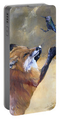 Fox Dances For Hummingbird Portable Battery Charger