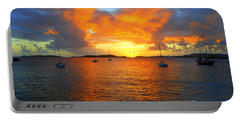 Frank Bay St. John U. S. Virgin Islands Sunset Portable Battery Charger by Catherine Sherman