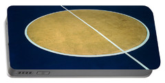 Geometry On The Basketball Court Portable Battery Charger by Gary Slawsky
