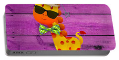 Georgie Giraffe Collection Portable Battery Charger by Marvin Blaine