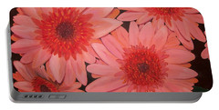 Portable Battery Charger featuring the painting Gerber Daisies by Sharon Duguay