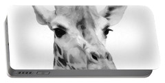 Giraffe On White Background  Portable Battery Charger