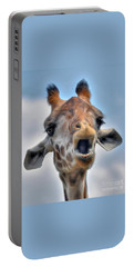 Portable Battery Charger featuring the photograph Giraffe  by Savannah Gibbs