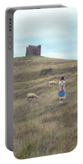 Girl With Sheeps Portable Battery Charger