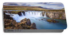 Godafoss Waterfall Portable Battery Charger by Alexey Stiop