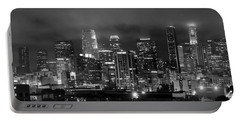 Gotham City - Los Angeles Skyline Downtown At Night Portable Battery Charger