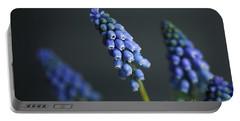 Grape Hyacinth Portable Battery Charger by Nailia Schwarz