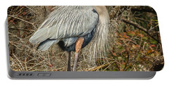 Great Blue Heron Portable Battery Charger by Jane Luxton