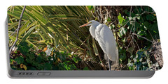 Portable Battery Charger featuring the photograph Great Egret by Kate Brown