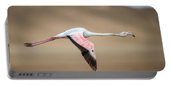 Greater Flamingo Phoenicopterus Roseus Portable Battery Charger by Panoramic Images
