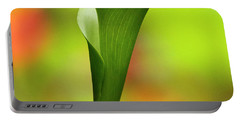 Green Calla Lily Portable Battery Charger