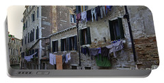 Hanging Out To Dry In Venice Portable Battery Charger