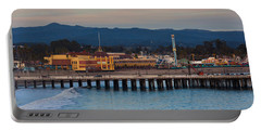 Harbor And Municipal Wharf At Dusk Portable Battery Charger