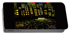 Portable Battery Charger featuring the painting Harbour Lights by Leanne Seymour