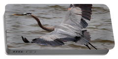 Heron In Flight. Portable Battery Charger