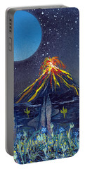 Portable Battery Charger featuring the painting Interruption by Jason Girard