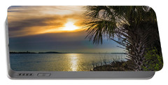 Portable Battery Charger featuring the photograph Intracoastal Sunrise by Frank Bright