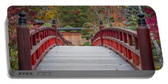 Portable Battery Charger featuring the photograph Japanese Bridge by Sebastian Musial