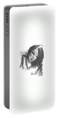 Portable Battery Charger featuring the drawing Jasper by Laurie L