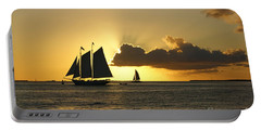 Portable Battery Charger featuring the photograph Key West Sunset by Olga Hamilton