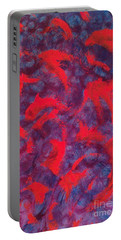 Portable Battery Charger featuring the painting koi by Jacqueline McReynolds