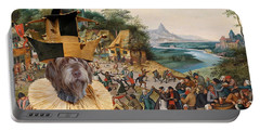 Korthals Pointing Griffon Art Canvas Print Portable Battery Charger by Sandra Sij