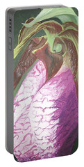 Portable Battery Charger featuring the painting Lady Slipper Orchid by Sharon Duguay
