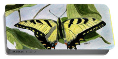 Male Eastern Tiger Swallowtail Portable Battery Charger by Angela Davies