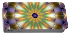Mandala 105 Portable Battery Charger by Terry Reynoldson