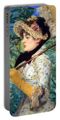 Portable Battery Charger featuring the photograph Manet's Spring by Cora Wandel