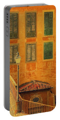 Portable Battery Charger featuring the photograph Medieval Windows by Caroline Stella
